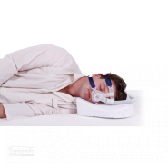 easybreather pillow man sleeping with CPAP mask on