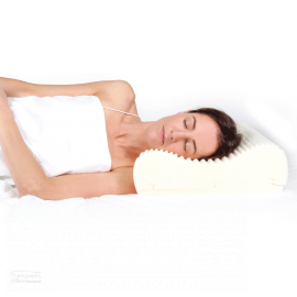 Wellness pillow women sleeping on her side