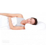 Tranquillow Contoured Pillow lady sleeping on her side